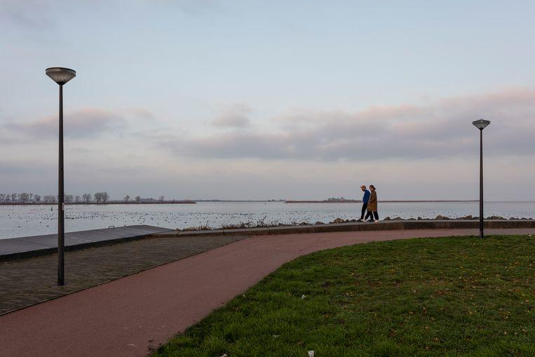 Er ontstond al eerder onrust over plannen om windturbines te plaatsen in het IJmeer. Beeld Marc Driessen