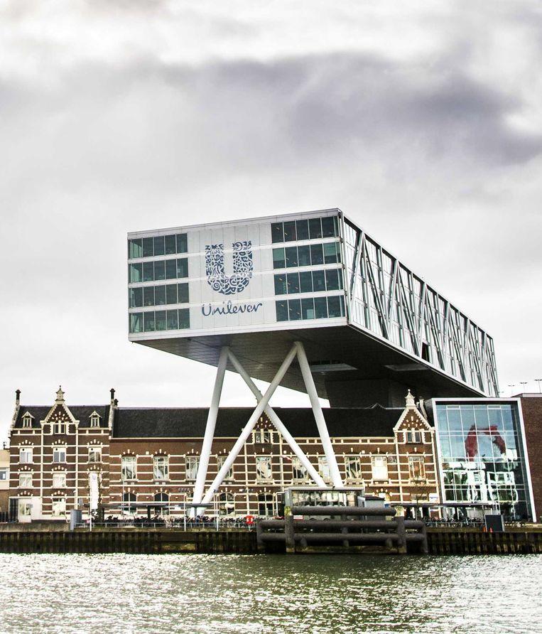 Het gebouw van Unilever in Rotterdam. Beeld EPA
