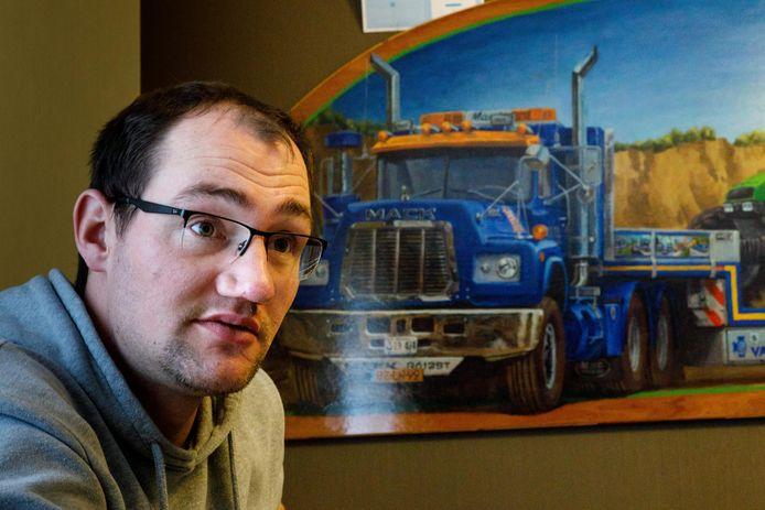Bjorn Dragt raakte zwaargewond door een ongeluk met een bungee-attractie in Balkbrug. Vrachtwagenchauffer worden, dat lukt niet meer.