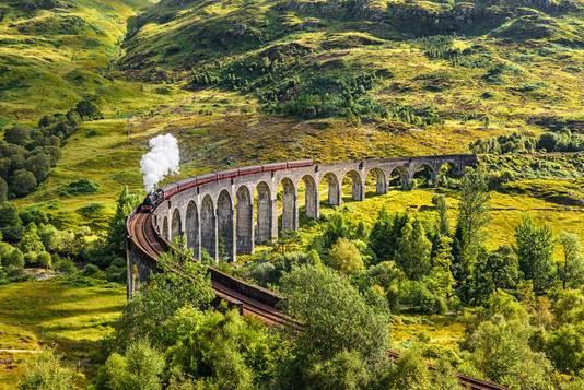 Glennfinan viaduct, oftewel: de bekende stoomtrein uit Harry Potter