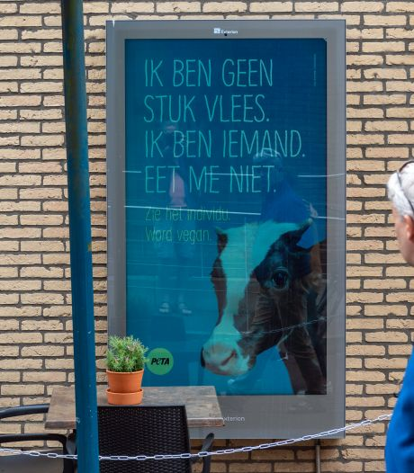 Dit reclamebord moet ervoor zorgen dat Epe geen vlees meer eet na Gosschalk-rel