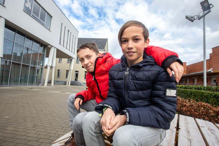 Len Van Audenhove (rechts) en Milan Verhaegen zijn nu echt wel maatjes voor het leven.