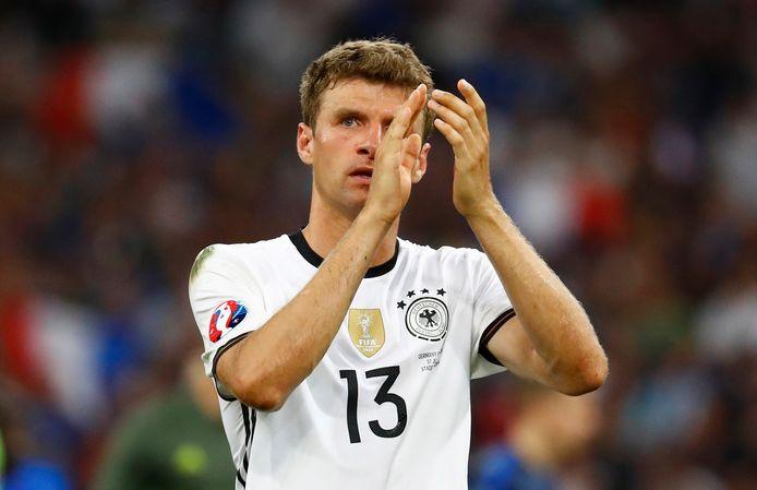 2016: Thomas Müller als Duits international.