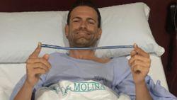 Movistar-renner reed jaar rond met enorme ijzeren pin in onderbeen