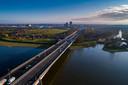 De skyline van Zwolle. Steeds meer gezinnen en ouderen komen vanuit de Randstad richting de Overijsselse hoofdstad.