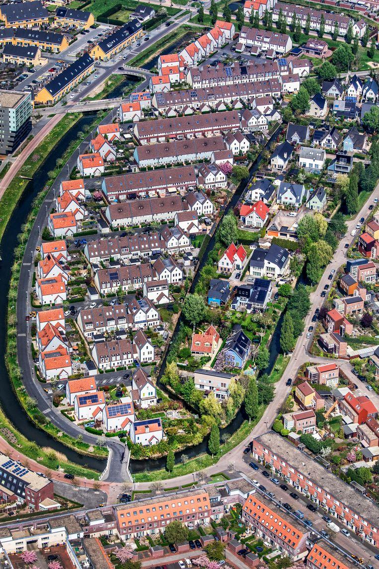 Luchtfoto van de Utrechtse vinexwijk Leidsche Rijn. Beeld Raymond Rutting / de Volkskrant