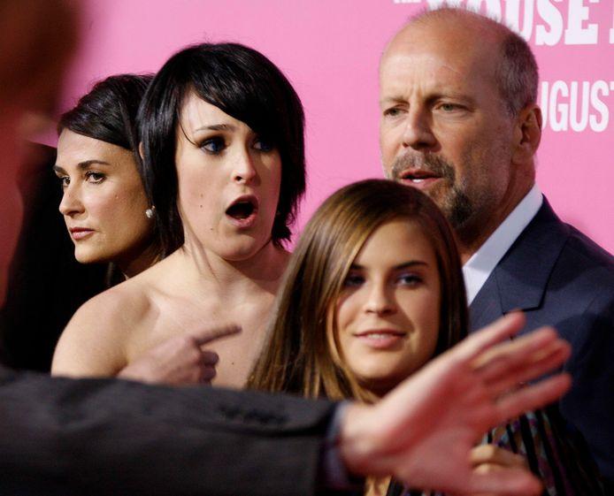 Demi Moore, Rumer Willis, Tallula Willis en Bruce Willis