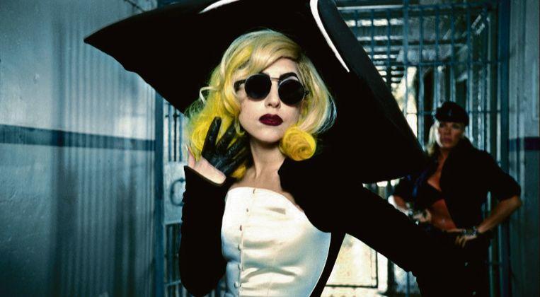 Lady Gaga in de clip van 'Telephone' uit 2010. Beeld rv