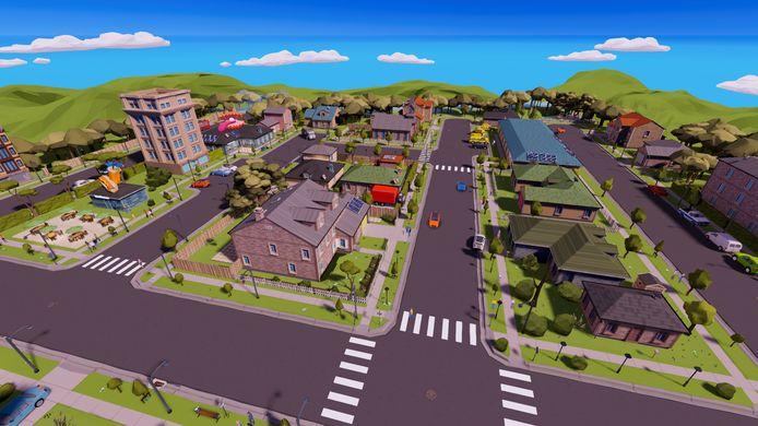 Zo ziet het virtuele dorp eruit waarin 'persona' mevrouw Karelse woont. Volgens de app Wie helpt.