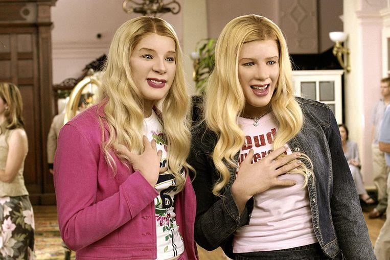 De (zwarte) Wayans-broers kruipen in de huid van blanke, rijke middenklassevrouwen in de komedie 'White Chicks' uit 2004.  Beeld RV