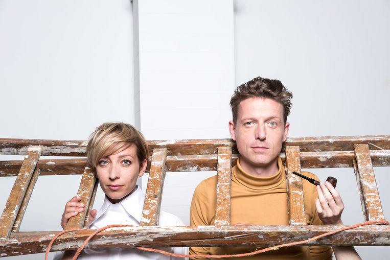 Sofie Lemaire en Bent Van Looy. Beeld © VRT - Charlie Dekeersmaeker