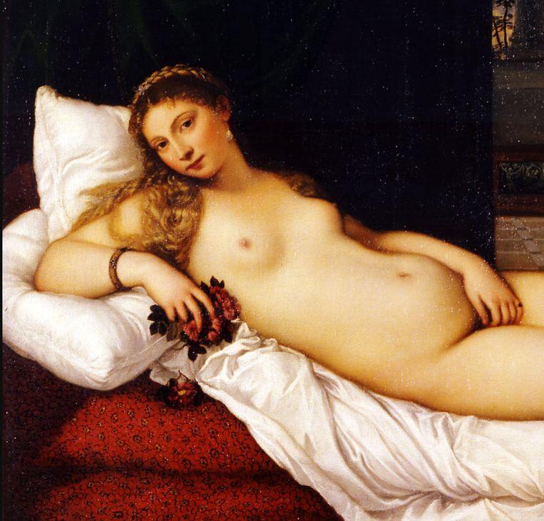 1. Titiaan, Venus van Urbino (detail), 1534 Beeld Uffizi Florence