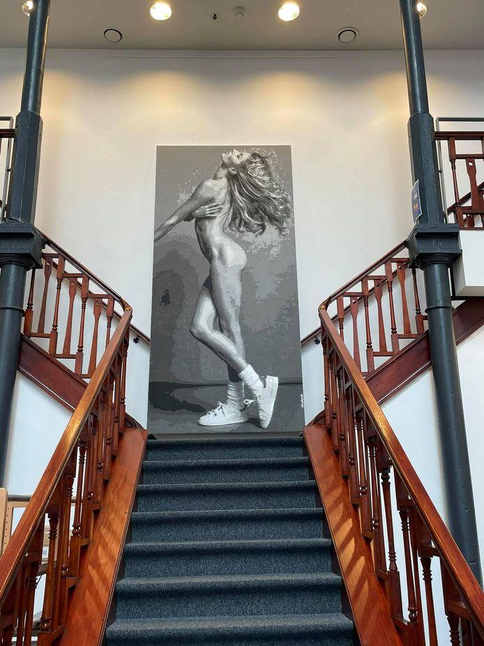Une des œuvres de Ben Vanderick exposée à Fleurus