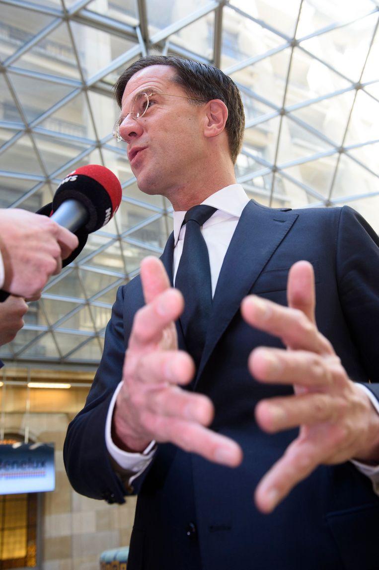 Huidig premier Mark Rutte. Beeld Photo News