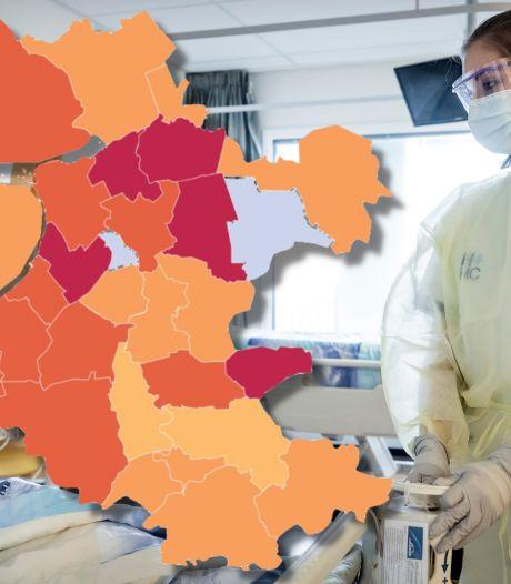 KAART | Staphorst weer dé coronabrandhaard van Nederland, forse stijging van ziekenhuisopnames in Oost-Nederland