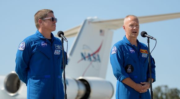 NASA-astronauten Robert Behnken en Douglas Hurley zullen de vlucht bemannen.