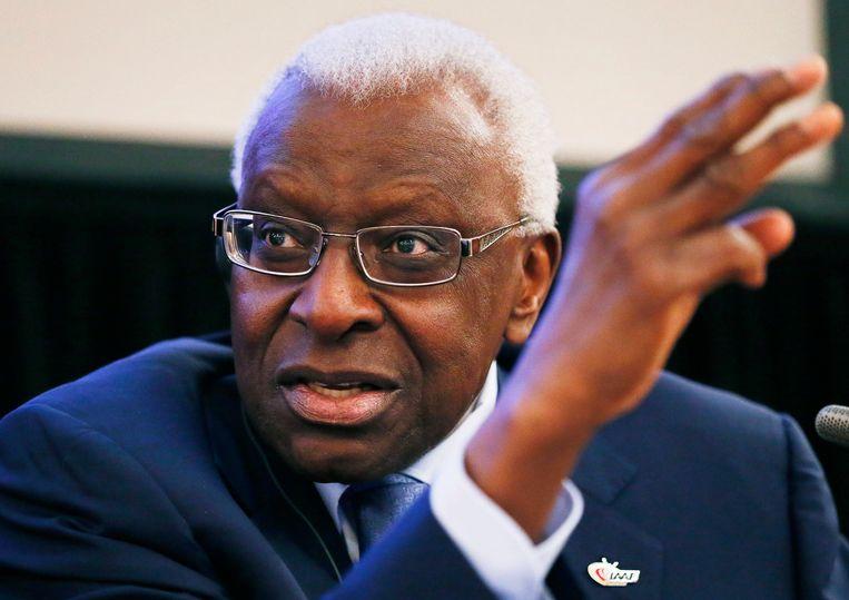 Voormalig IAAF-voorzitter Lamine Diack was 'verantwoordelijk' voor de institutionele corruptie, aldus het WADA-rapport. Beeld EPA