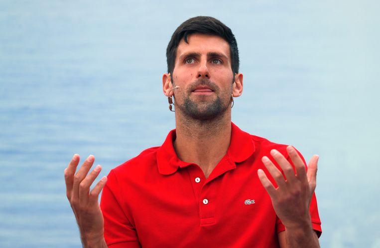 Novak Djokovic gelooft niet in dat US Open realistisch is. Beeld AP
