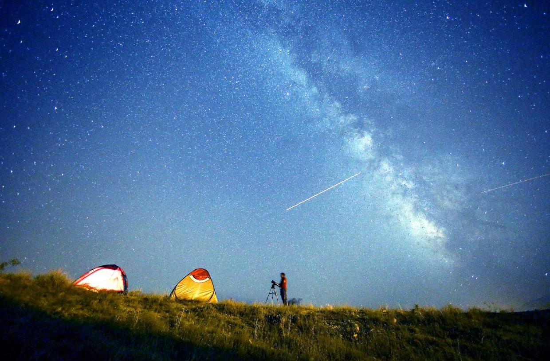Meteorenzwerm Perseïden in 2015.