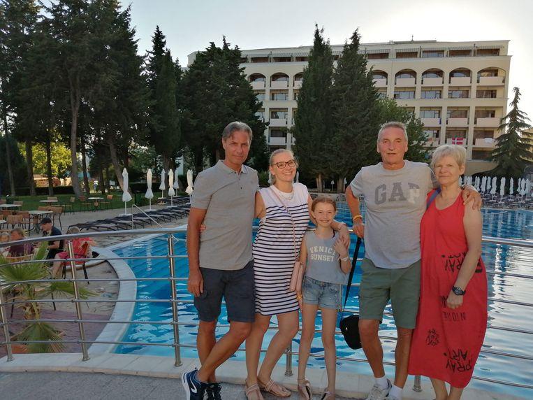 Familie Buntinx in Nessebar, Bulgarije. Beeld rv/Koen Buntinx