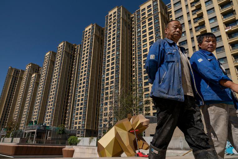 Woontorens in Peking ontwikkeld door Evergrande.  Beeld Getty Images