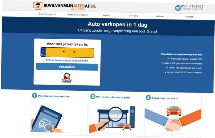 Screenshot ikwilvanmijnautoaf.nl