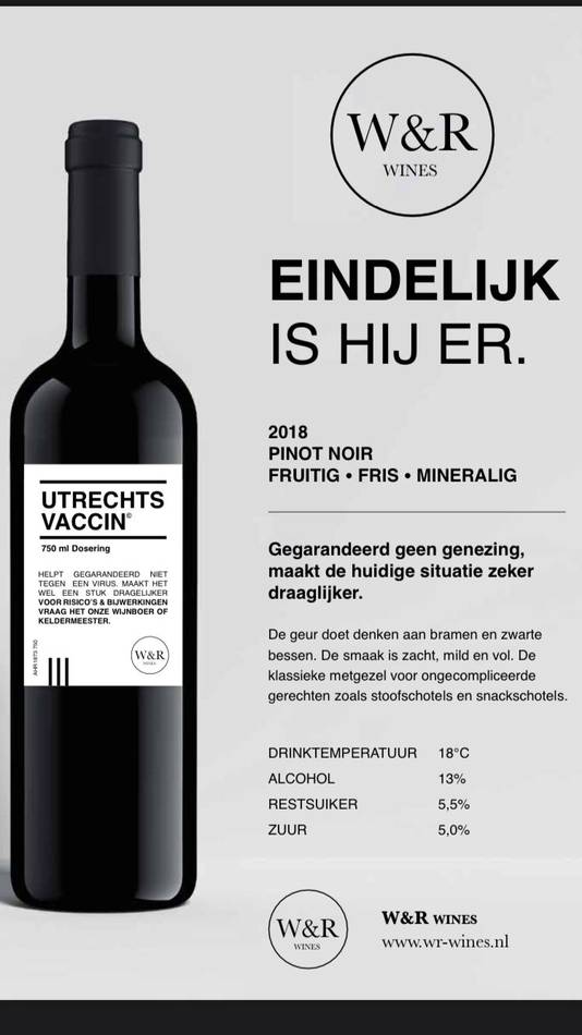 De Utrechts Vaccin wijn van Wytse en Richard