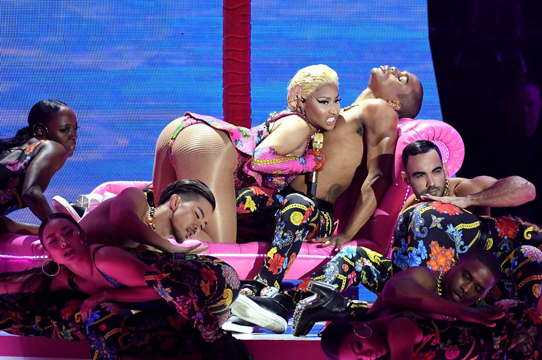 Nicki Minaj vorig jaar tijdens de EMA's.  Beeld Photo News