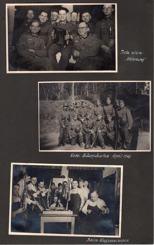 Pagina uit het fotoalbum van Josef Freialdenhoven. Beeld Collectie Robin Gouwswaard/ Stichting Hilversum in de Oorlog.