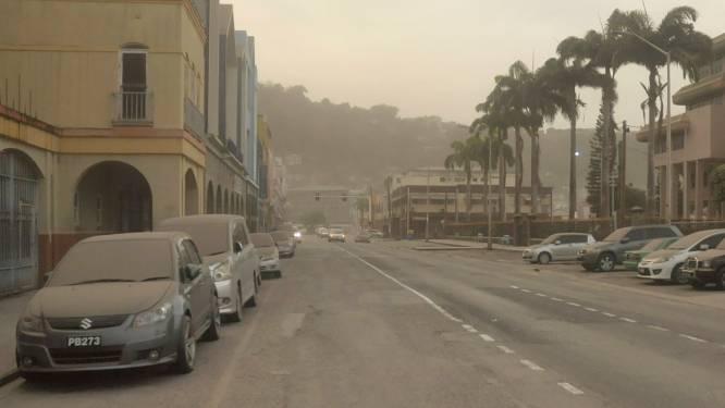 Saint Vincent onder de vulkaanas