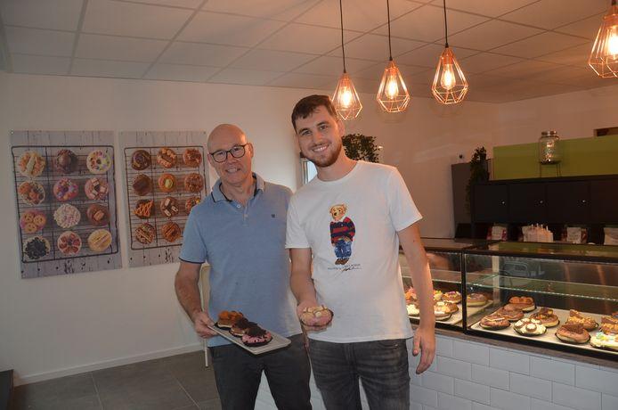 Nick en Eddy Wyns van donutzaak 'Josephine' in de Langemuntstraat in Ninove.
