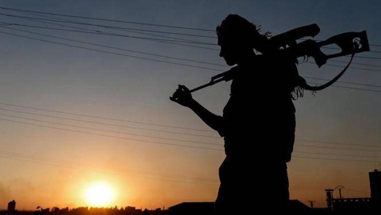 Een strijder van de Koerdische militie YPG in Noord-Syrië.