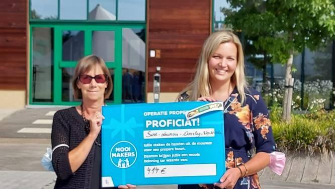 Sint-Laurens Overslag ontvangt mooie cheque voor Operatie Proper