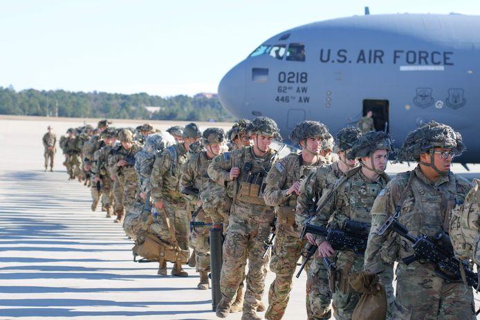Wisseling van de wacht van Amerikaanse troepen in Irak, eerder dit jaar