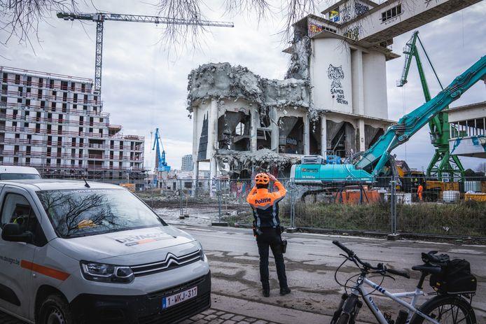 afbraak betoncentrale Interbeton Dag 2