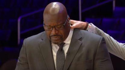 """Shaquille O'Neal barst in tranen uit tijdens hommage aan Bryant: """"Mijn ziel verliet mijn lichaam toen ik het nieuws vernam"""""""