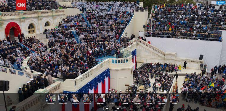Een screenshot van de bewuste gigapixelfoto van CNN. Voor het origineel moet u op de site van de Amerikaanse tv-zender zijn. Beeld rv