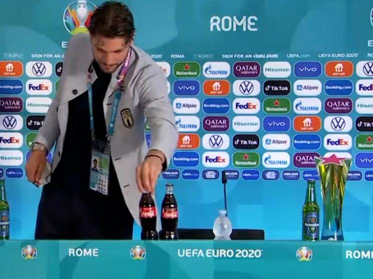 Ronaldo, Pogba en nu ook Locatelli: Italiaan zet flesjes Coca-Cola opzij