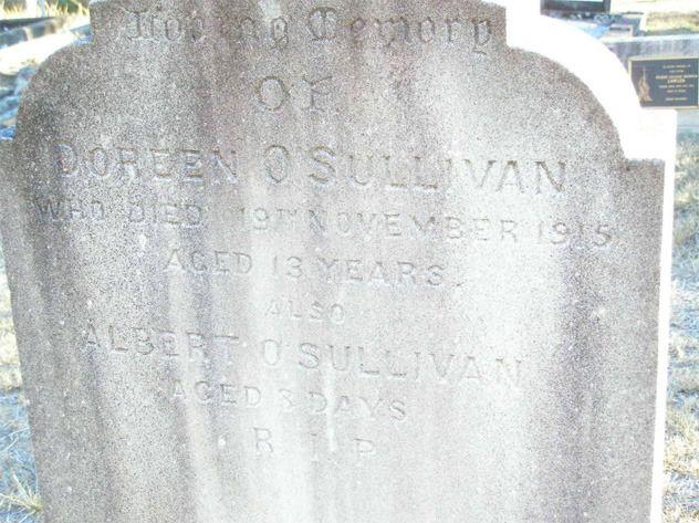 Doreen O'Sullivans grafsteen