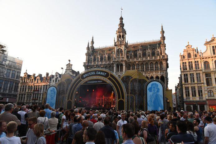 Op de Brusselse Grote Markt wordt jaarlijks 'Brussel Danst' georganiseerd.