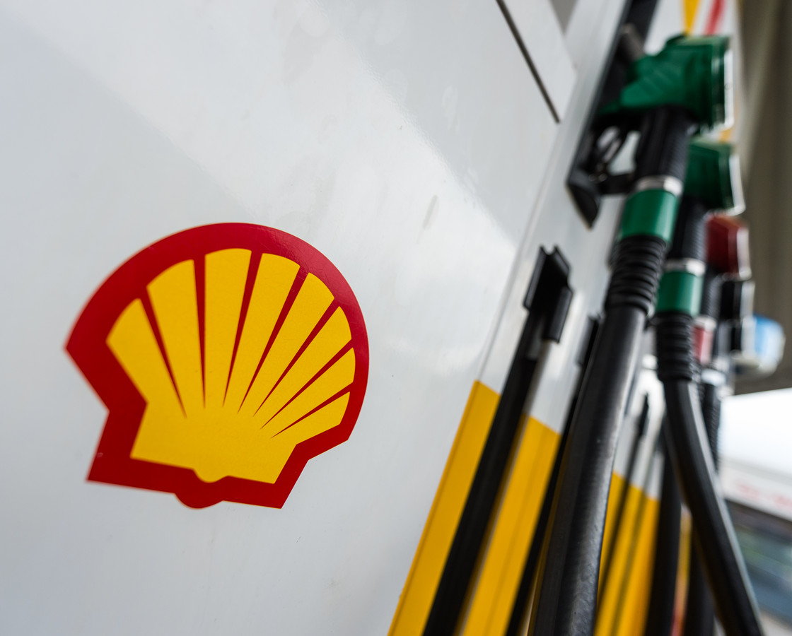 Het logo van Royal Dutch Shell.