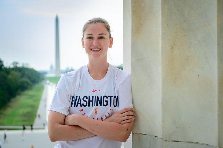 Emma Meesseman in Washington: 'Ik zie er niet agressief uit, dat is mijn probleem.' Beeld Photo News