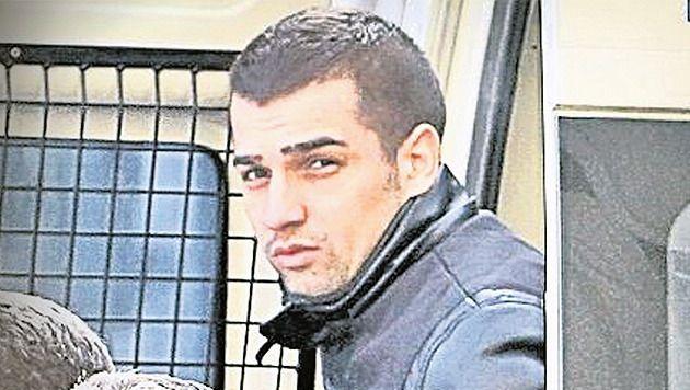 Verdachte Alexandru Bitu bij zijn arrestatie in Januari.
