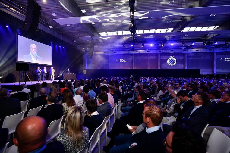 De presentatie van het Belfius Basecamp in Westkapelle. Beeld Photo News