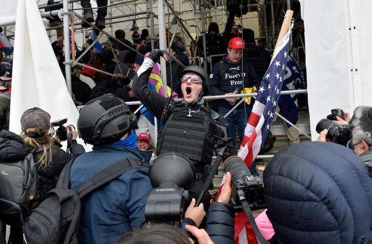 Trump supporters storm the Capitol.  Image AFP