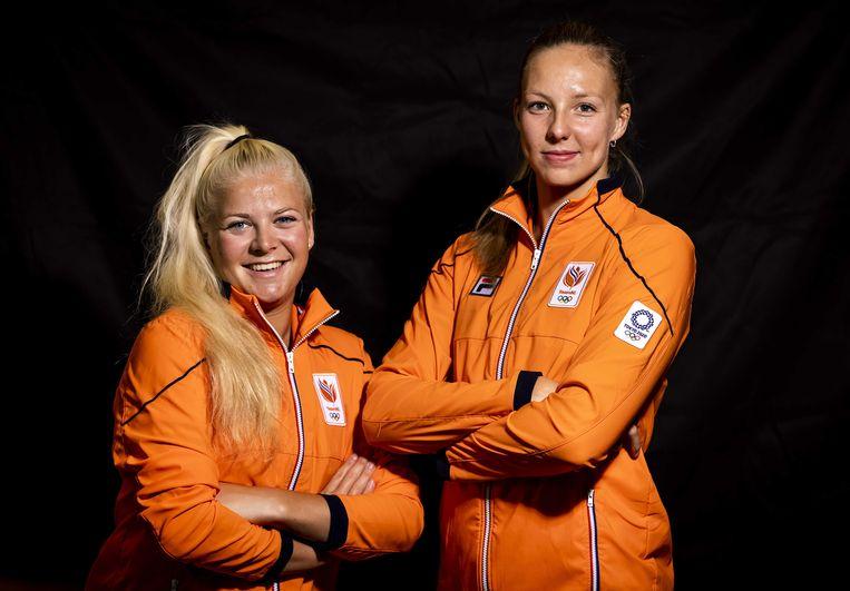 Katja Stam en Raisa Schoon richtten zich op Parijs 2024, maar plaatsten zich onverwachts voor Tokio. Beeld ANP / Remko de Waal
