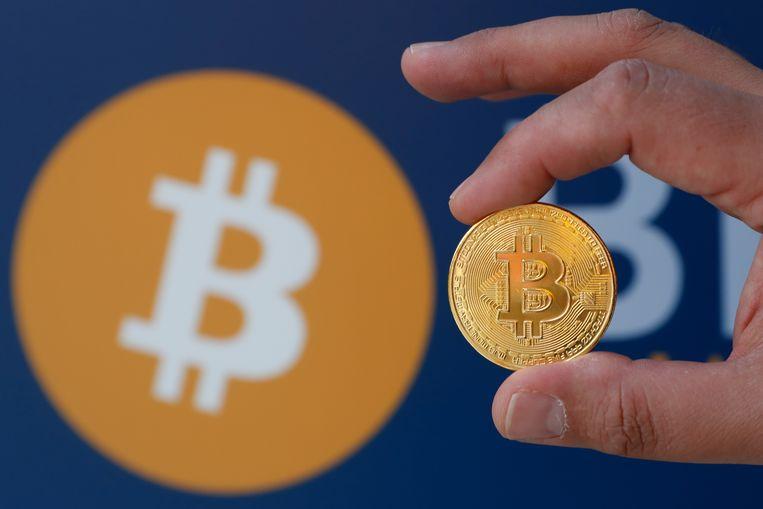 De weergave van een bitcoin. Beeld Reuters