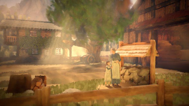 De game laat ook taferelen buiten het front zien. Beeld Bandai Namco