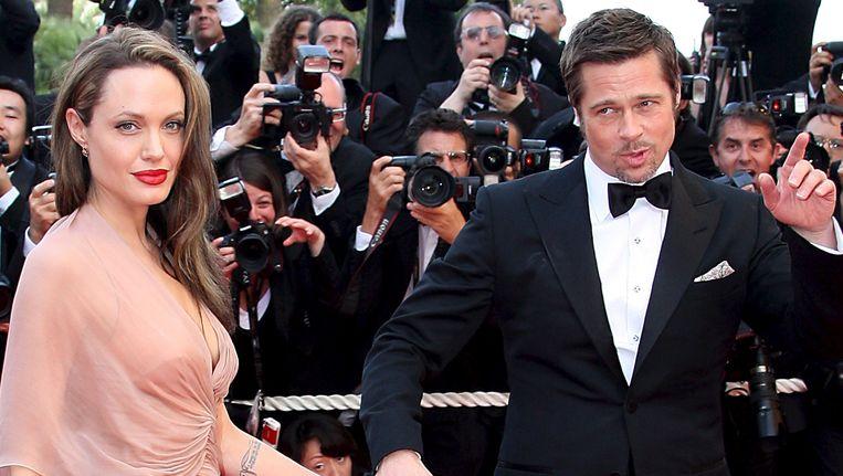 Angelina Jolie en Brad Pitt op de rode loper van het filmfestival in Cannes in 2009.