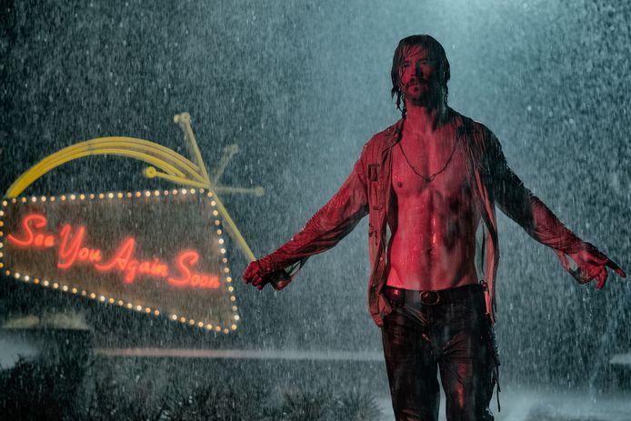 Chris Hemsworth op de set van 'Bad Times at The El Royale'.